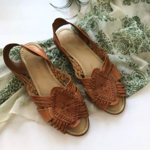 Vtg Fun Steps Huaraches Sandals Leather 8 Wide